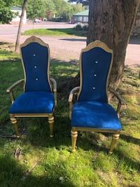 Chair set gold and blue Sloatsburg, 10974
