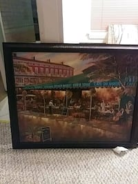Wood framed picture of cafe du monde Metairie, 70002