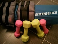 assorted-color fixed weight dumbbell lot Toronto, M5N