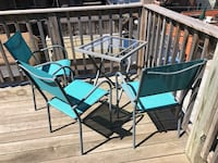 Patio furniture - table, 3 chairs, bench & stool. All for $120. Will consider selling separately Chicago, 60657