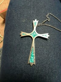 Stirling Silver Turquoise Cross and Bracelet  Snohomish, 98290