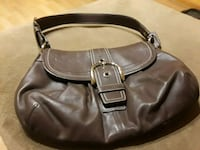 Coach bag-chocolate brown leather. Like new.  Cranston, 02920