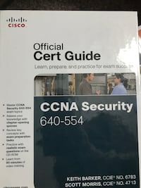 Cisco CCNA Security 640-554 Hardcover Official Certification Study Guide. Westfield, 46062