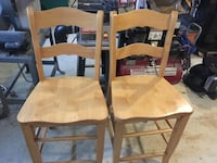 Two maple colored wooden windsor chairs Spring Hill, 37174