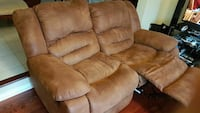 brown leather padded sofa recliner sofa armchair Toronto, M8Z 2G6