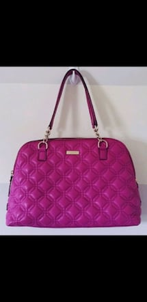 Kate Spade Magenta Quilted Handbag Purse Bag