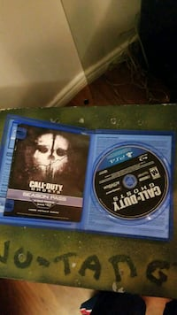 Call of Duty Ghosts PS4 game disc Toronto, M1B