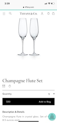 Tiffany champagne flutes Falls Church, 22046