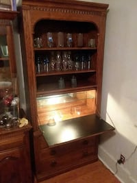 brown wooden framed glass display cabinet Albany, 12210
