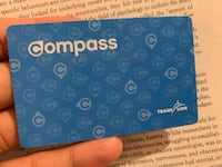 Compass card 2 zone with january monthly pass Burnaby, V5E 4E5