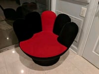 2 black and red suede armchairs Potomac, 20854