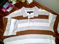 white and black striped polo shirt Tampa, 33647