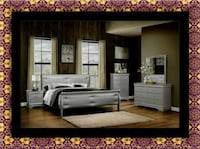 brown wooden bed frame with white mattress Alexandria, 22306