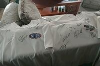 5 NHRA T-shirts 2 autographed by many racers Colorado Springs, 80915