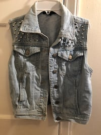women's blue denim vest 50 km
