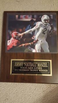 Johnny Manziel Texas A&M Wooden Plaque with nameplate LUBBOCK
