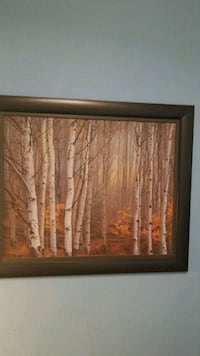 bare trees painting