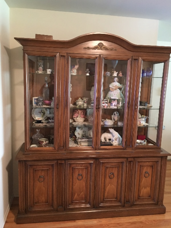 Vintage Dining Room Set with Matching China Cabinet