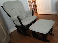 Brown wooden framed dutailler Glider. Gently used. Excellent working condition