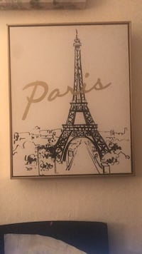 Eiffel Tower Paris painting with black wooden frame Richmond, 94804