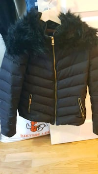 Girls winter Jacket- Size L Black color Oslo, 0188