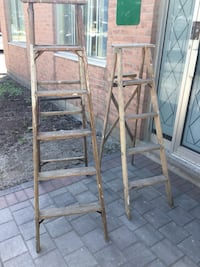 Vintage a pair of wooden Ladders Pickering, L1X 1P5