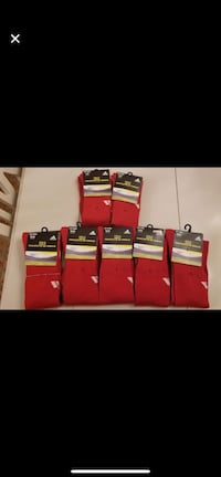 New with tags Adidas field socks red adult small and medium Vaughan, L4J 4T8