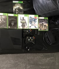 black Xbox 360 console with controllers Port Moody, V3H 2W7