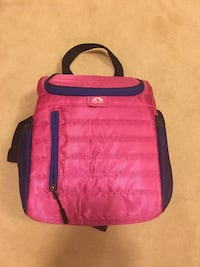 pink and black leather handbag Ashburn