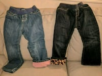 Two fleece lined jeans for girl size 4T Queens, 11377