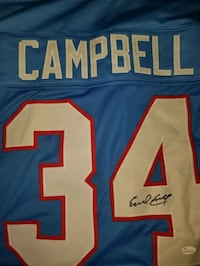 Houston oilers eral campbell #34 signed Greeley, 80631