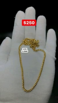 "10k yellow gold 22"" Miami Cuban chain 2.8mm Toronto, M1K 1N8"