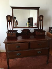 brown wooden dresser with mirror Dana Point, 92624
