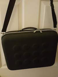 black leather two-way bag