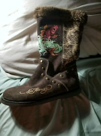 pair of brown leather boots Pearl, 39208