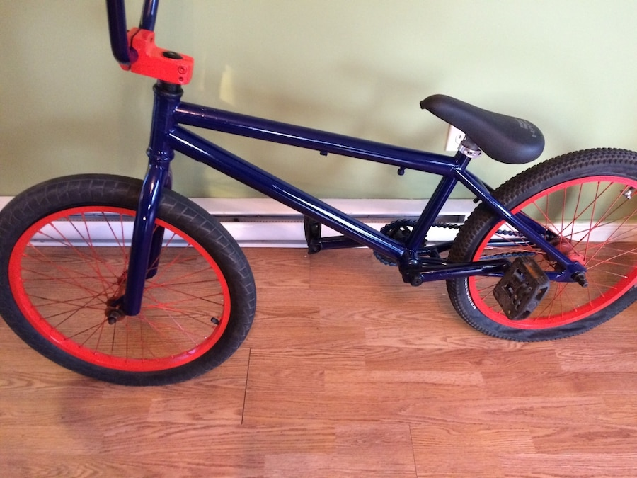 black and red BMX bike