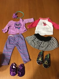 """18"""" doll clothes purple outfit and Blk white skirt outfit  Niagara Falls, L2H 1X3"""