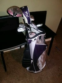 white and purple golf bag Tulsa, 74115