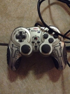 grey and black game controller