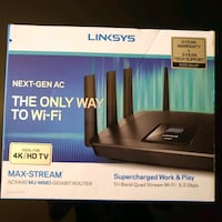 New Linksys Max-Stream AC5400 Router Long Beach, 90807