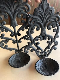 Wall hanging vintage cast iron candle holders Edmonton, T6L 4P9