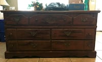 brown wooden 6-drawer lowboy dresser Holbrook