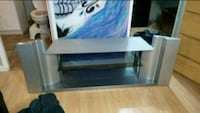 white and black wooden TV stand Mississauga, L5A 3R1