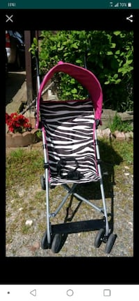 black and white zebra print lightweight stroller screenshot Tacoma, 98406