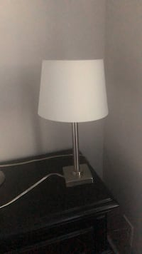 stainless steel base white shade table lamp Greensboro, 27409