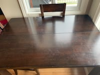 Dark brown wood table with 4 chairs Calgary, T2W 3J5