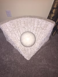 round white ball coffee table- missing glass.