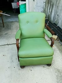 green and brown wooden armchair St. Louis, 63110