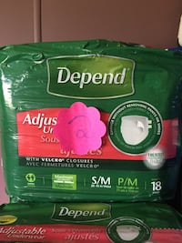 green Depend diaper pack Edmonton, T5Y