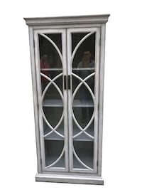Tall cabinet with glass doors BRAND NEW!! Dallas